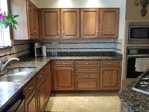 Cabinet Refacing Glazed Cherry Kitchen
